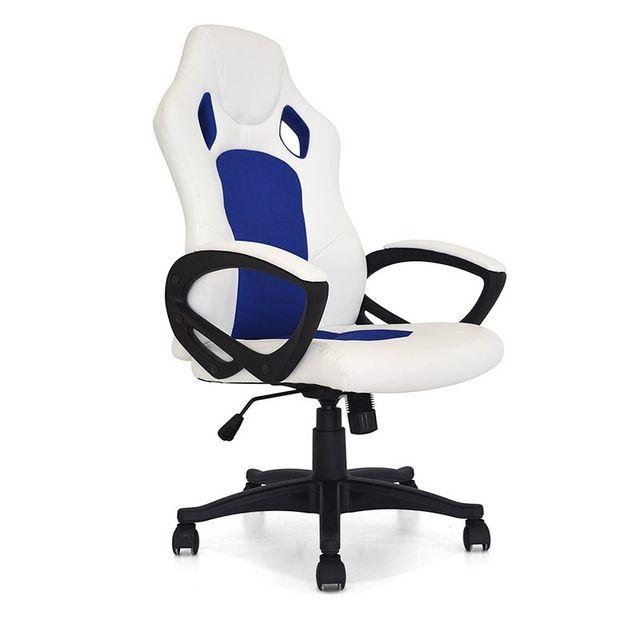 Pivotante Et Bleu Bureau Design Blanc Pure De Coach Chaise zVGqMUpS
