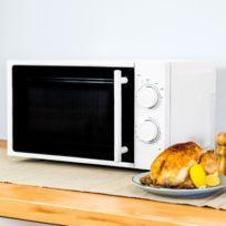 - Micro-ondes blanc à plateau intérieur rotatif - Four micro onde cuisine