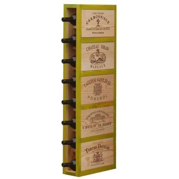 CavidÉCO Pierre Goujon Meuble de rangement en bois 8 bouteilles - Vert - CavidÉCO Pierre Goujon - Aci-cvc100V