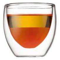 Bodum - Set de 2 verres double paroi 8cl - Pavina