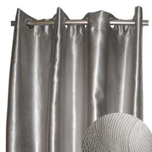 alin a bling rideau occultant argent illets 140x270cm pas cher achat vente rideaux. Black Bedroom Furniture Sets. Home Design Ideas