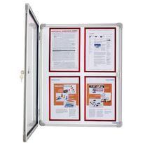 Magnetoplan - magnétoplan vitrine Sp - 6 x format A4 - pour intérieur