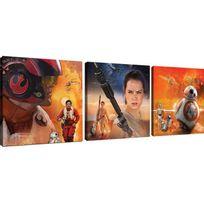 Declikdeco - Le Triptyque Impression Star Wars Force 3/25x25 Galaxias vous offre une série de tableaux représentant les héros notoires de la dernière génération Star Wars, de quoi ajouter un aspect moderne à votre intérieur. Caractéristiques :- Matière : Toile- Coule
