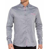 Cent's - Chemise grise en coupe ajustée