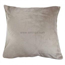 marque generique housse de coussin 60 cm doudou taupe marron 60cm x 60cm pas cher achat. Black Bedroom Furniture Sets. Home Design Ideas