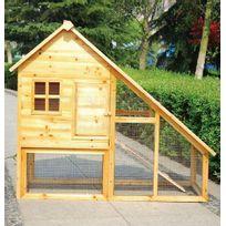 Bcelec - Cage pour Lapin, Clapier en bois avec porte et tiroir, 136 x 118 x 61cm