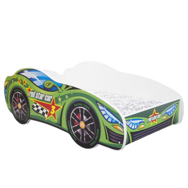 Other Lit pour un enfant - Racing Car - Green Car MATELAS Gratuit 140 x 70 cm