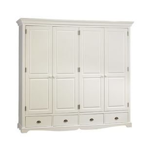 grande armoire penderie blanche de style anglais 212cm x. Black Bedroom Furniture Sets. Home Design Ideas