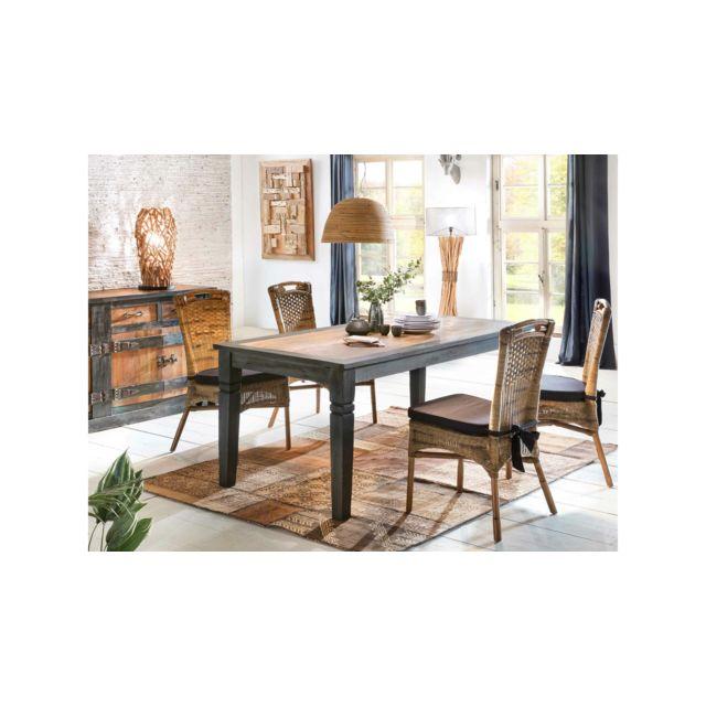 Tessy Table De Salle A Manger Marron 100x200 Cm
