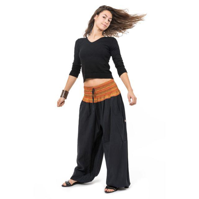 2e0ec7ce26e Fantazia - Pantalon sarouel grande taille Sundhara - pas cher Achat ...
