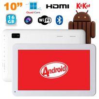 Yonis - Tablette 10 pouces Android KitKat Bluetooth Quad Core 16Go Blanc