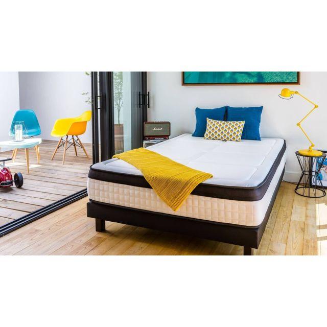 hbedding ensemble matelas m moire sommier 160x200 grand palais mousse haute densit. Black Bedroom Furniture Sets. Home Design Ideas