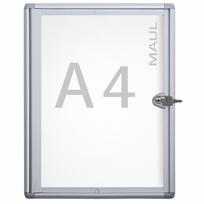 Maul - Vitrine d'affichage murale pour intérieur - 1 x format A4 - vitrine extra-plate en verre synthétique