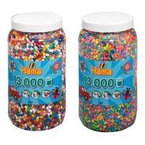 Hama - Tw10377647 Set de deux pots de perles à repasser env. 26000