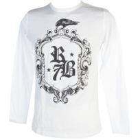 Rivaldi Black - Tee shirt manches longues Makinu white ml tee Blanc 79246