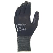 Paire de gants polyuréthane PU Support polyester sans couture. Jauge 13. Singer Nym713PUG. Taille 10