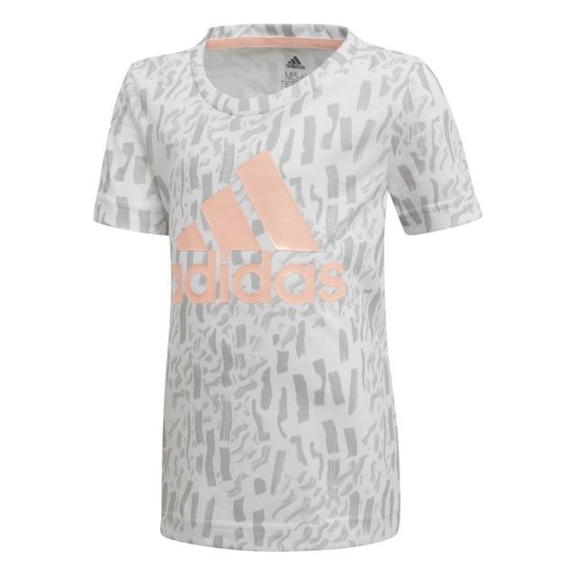 pre order shades of new high quality Adidas - T-shirt T-shirt Fille Badge Of Sport Blanc Enfant ...