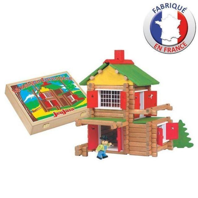 JEU D'ASSEMBLAGE - JEU DE CONSTRUCTION - JEU DE MANIPULATION Mon châlet en bois - 135 pieces - Coffret en bois