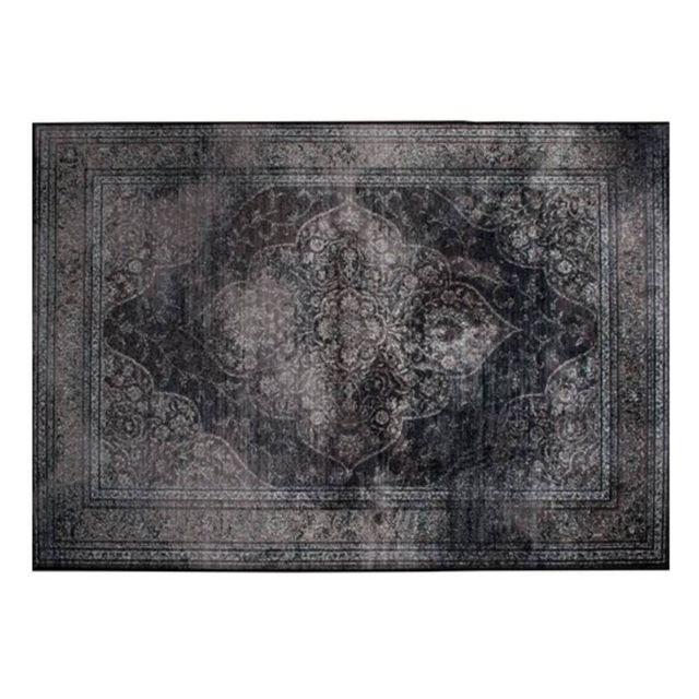 inside 75 dutchbone tapis style persan rugged noir 200 x 300 cm pas cher achat vente tapis. Black Bedroom Furniture Sets. Home Design Ideas