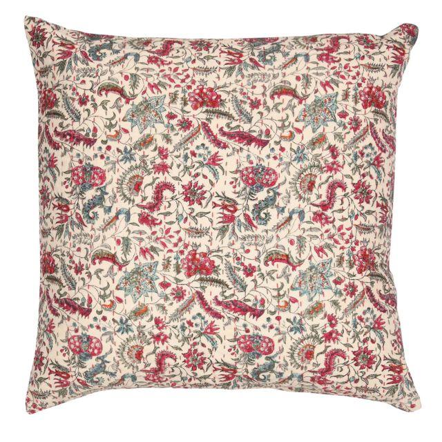 Étonnant Comptoir de famille - Coussin boutis 100% coton motifs floraux CW-95