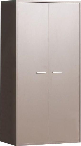 Comforium Armoire 2 portes moderne gris basalte pour enfant