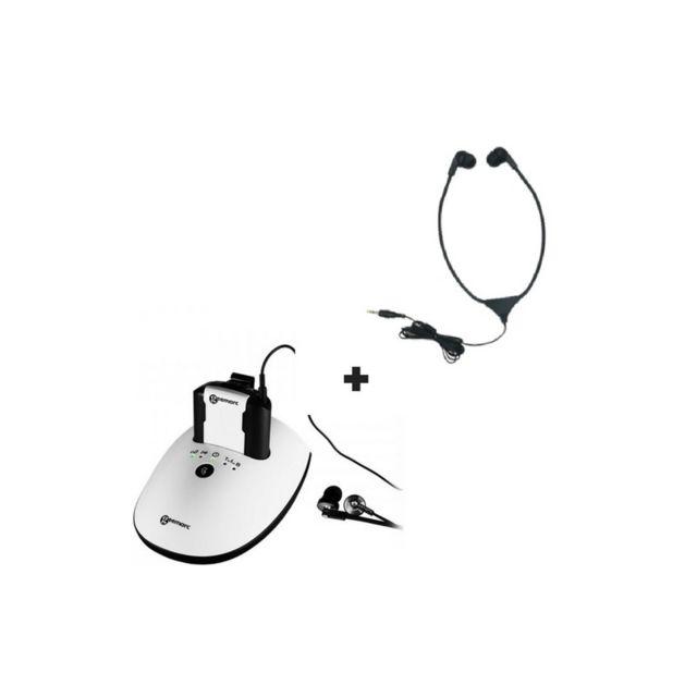 Geemarc Casque Tv Cl7350 Opticlip entrée optique + Un casque Stéthoscopique