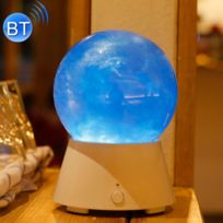 Wewoo - Veilleuse Led Creative Planète Conception Magique Musique Basse Sound Box Bluetooth V2.1 + Edr Haut-Parleur Atmosphère Nuit Lampe Nouveauté Cadeaux