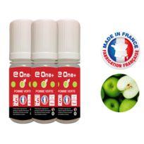 E One+ - 3 E-liquides 10ml Pomme Verte 5 mg/ml fabrication Francaise