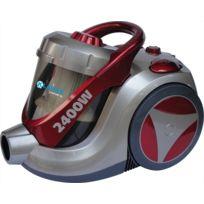 Klaiser - Aspirateur Sans Sac Confort Xl Ultra Puissant 2400W - Equipé d'une poignée ergonomique- Blanc-noir