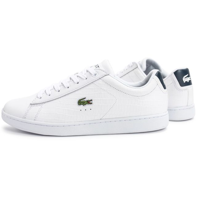 10167bfb28c Lacoste - Carnaby Evo Croc Blanche Bleu - pas cher Achat   Vente ...