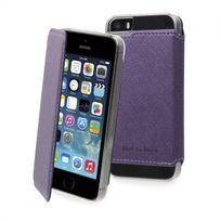 Muvit - Made In Paris Etui Crystal Folio Iphone 5/5s/se Violet Metal