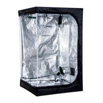 OUTSUNNY - Chambre de culture hydroponique tente de culture grow box 1,2L x 1,2l x 2H m polyester mylar noir 50