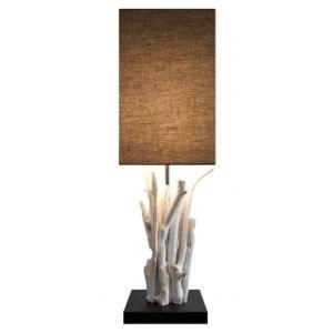 ouest balneo lampe bois flott pur vertigo marron pas cher achat vente lampes poser. Black Bedroom Furniture Sets. Home Design Ideas