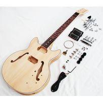 Mp - Guitare Electrique Jazz/Blues Demi-caisse à finir soi même Montage/Peinture