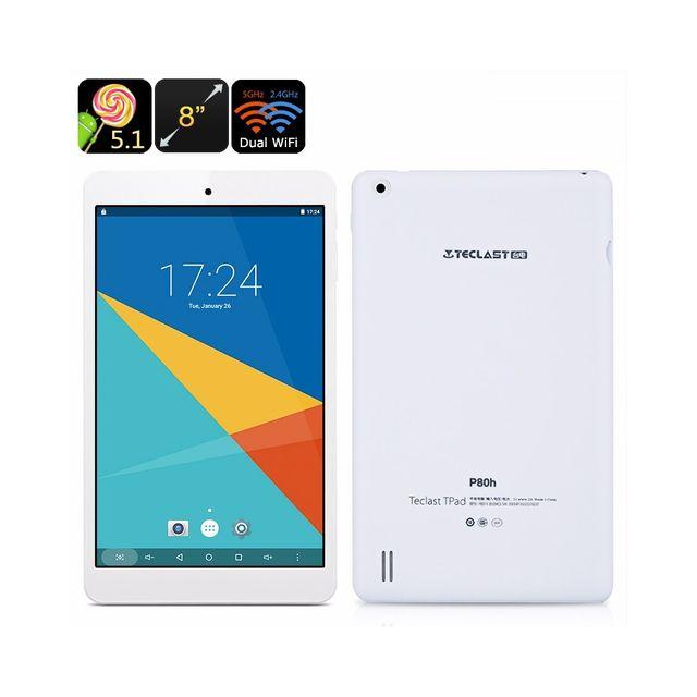 Auto-hightech Tablette tactile Android -Écran 8 pouces, Google Play, Otg, sortie Hdmi, processeur quadri-cœur, double bande WiFi