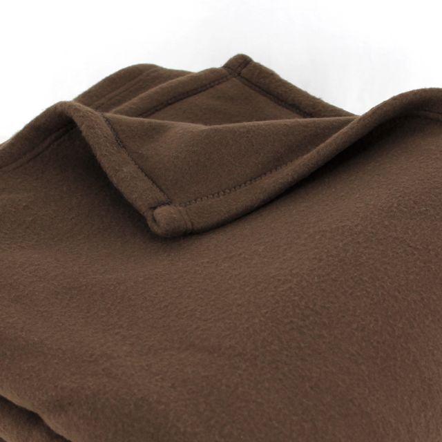linnea couverture polaire 220x240 cm 100 polyester 350 g m2 teddy marron chocolat multicolore. Black Bedroom Furniture Sets. Home Design Ideas