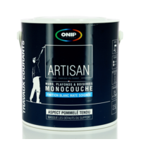ONIP - Peinture acrylique blanche monocouche mat, existe en 2,5 et 10L
