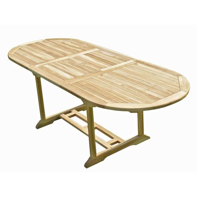 C&L Jardin Table de jardin en teck Mahui 8/10 places