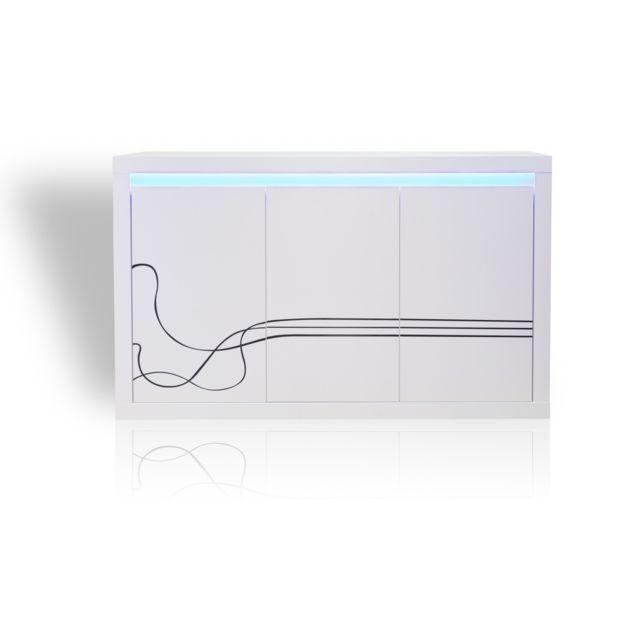 TOPDECO - Buffet Lino + LED blanc