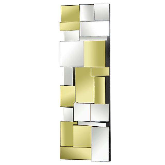Comforium miroir mural design 120x40 cm en verre for Miroir 40x120