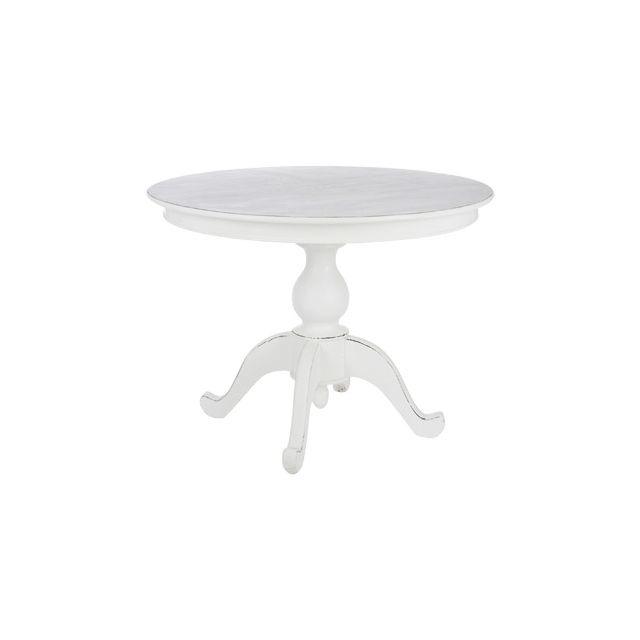 Table à manger ronde en bois 120x120x75cm