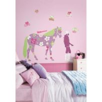 Thedecofactory - Stickers Cheval Fantaisie Géant Roommates Repositionnables 128x114cm