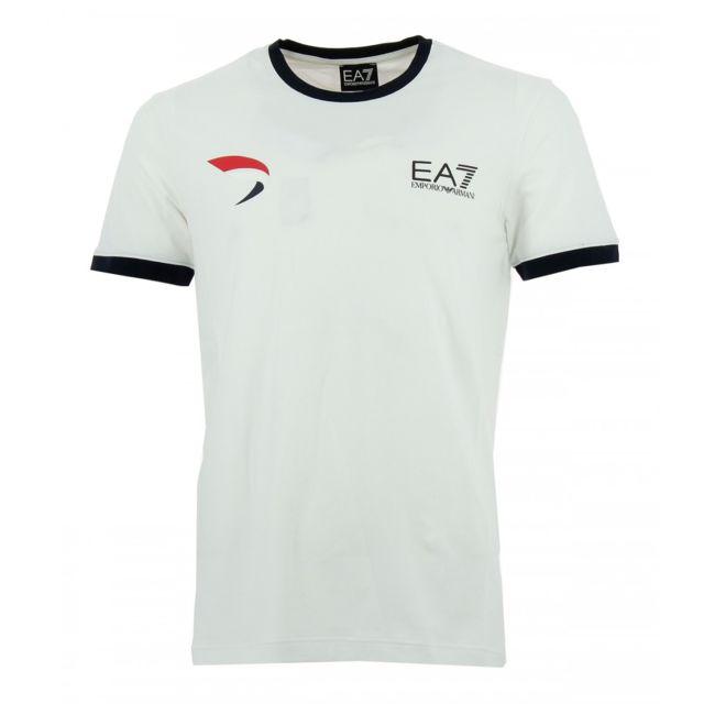 217ee6cf0318a Armani Ea7 - Tee-shirt Ea7 Emporio Armani Blanc - pas cher Achat   Vente  Tee shirt homme - RueDuCommerce