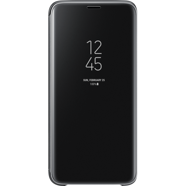 Samsung - Clear View Standing Cover Galaxy S9 - Noir