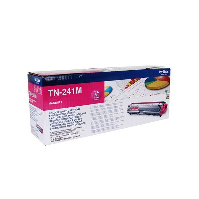BROTHER Toner TN-241M - Magenta TN241M, Toner d'origine Magenta pour imprimantes HL-3140CW, HL-3150CDW, HL-3170CDW, DCP-9020CDW, MFC-9140CDN, MFC-9330CDW, MFC-9340CDW