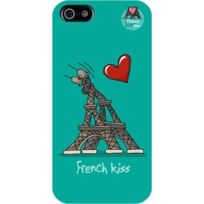 Hihihi - Coque rigide French kiss turquoise pour Apple iPhone 5/5S