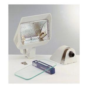 aric projecteur ext rieur halog ne r7s 230w daylite blanc pas cher achat vente spot. Black Bedroom Furniture Sets. Home Design Ideas