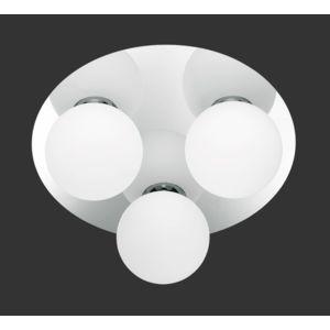 applique plafonnier rond 28 cm 3 ampoules en metal chrome et verre opale 5 Meilleur De Plafonnier Rond Verre Hiw6