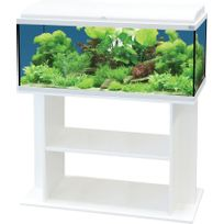 Aquatlantis - Ensemble Aquarium Aquadream 100 Blanc Led + Meuble
