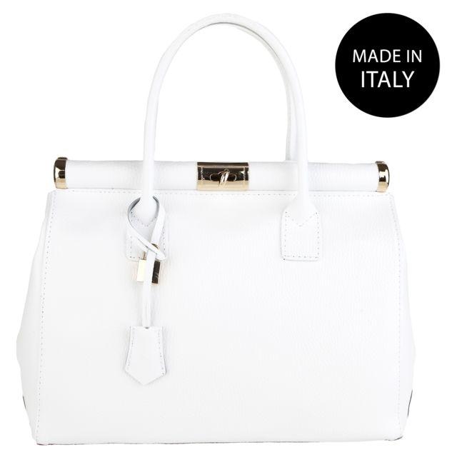 701e1097784 Chicca Borse - Sac à Main ed élégant blanc - pas cher Achat   Vente ...